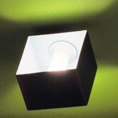 Domino 1 Light Outdoor Flush Mount / Wall Sconce