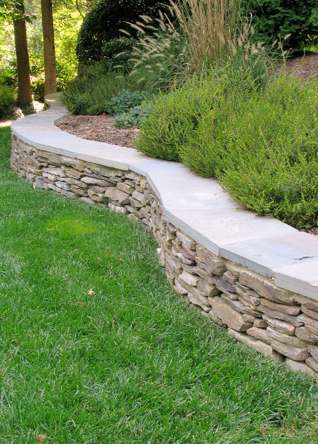 25 best ideas about stone wall gardens on pinterest