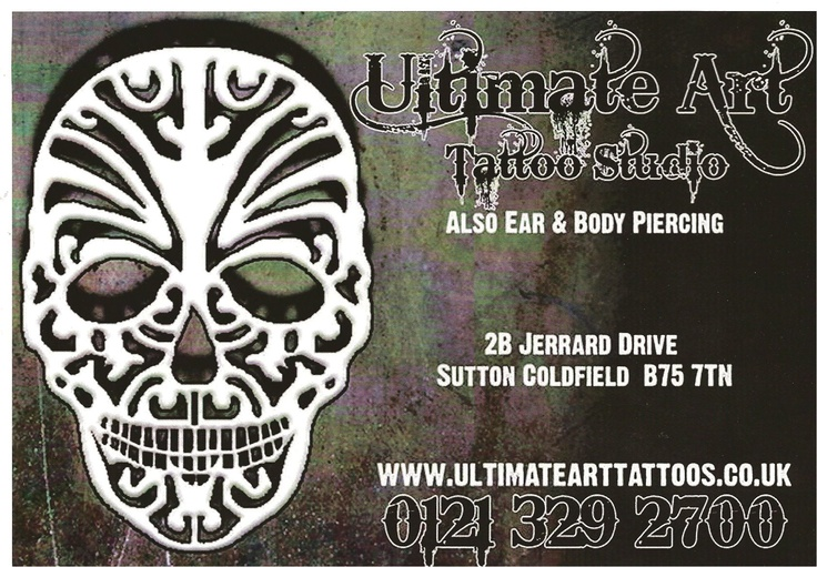 Tiffany Sutton Tattoo Artist: Tattoo Studio Sutton Coldfield Ultimate Art Tattoo