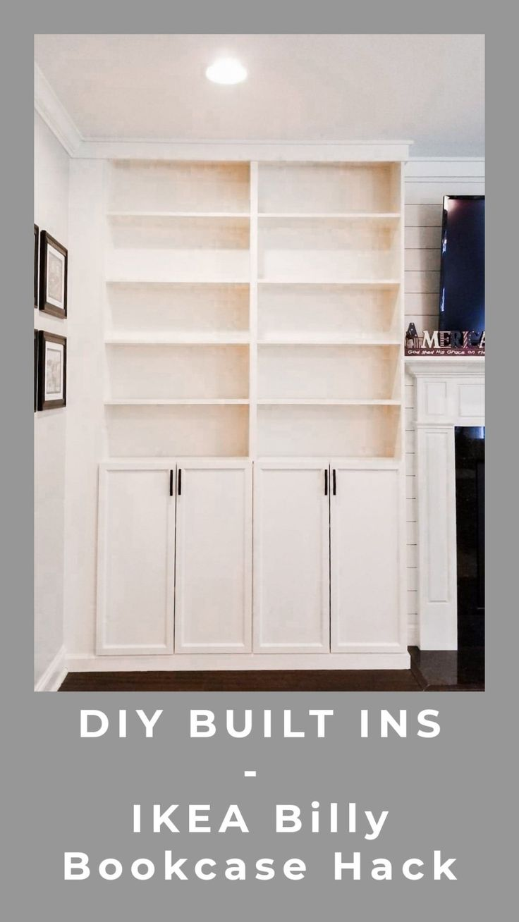 DIY Built Ins IKEA Billy Bookcase Hack Ikea billy