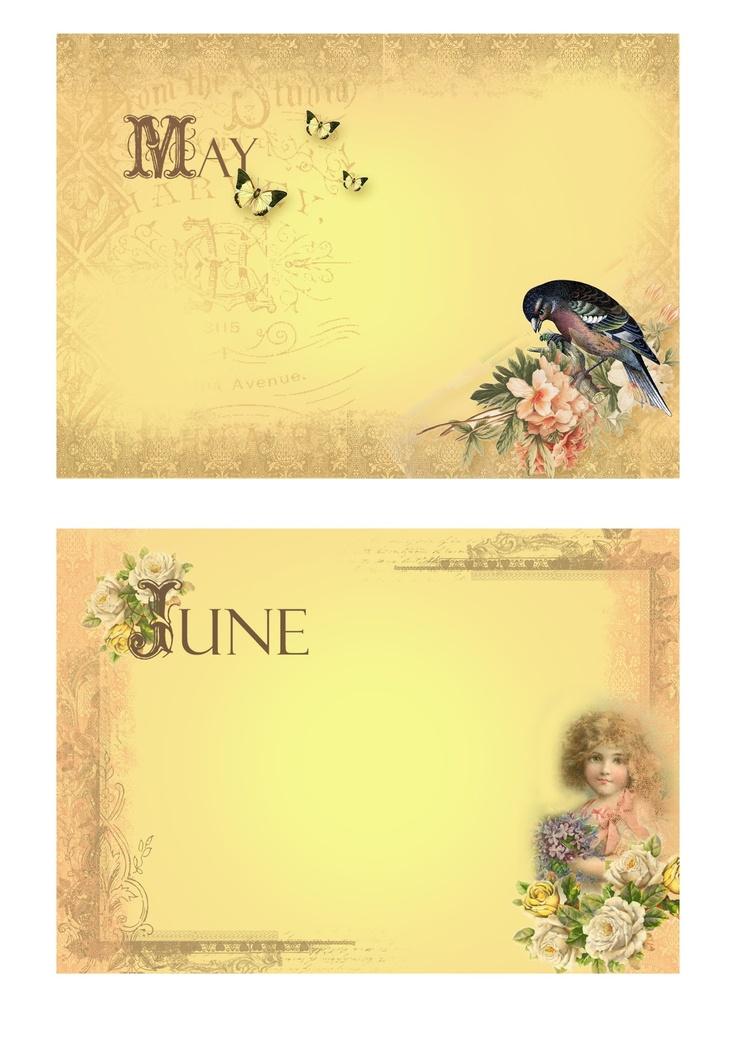 freebie: May & June vintage labels