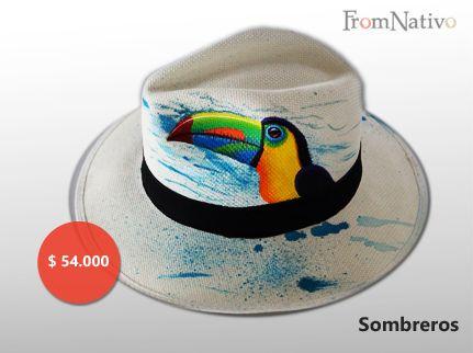 Sombrero pintado a mano.