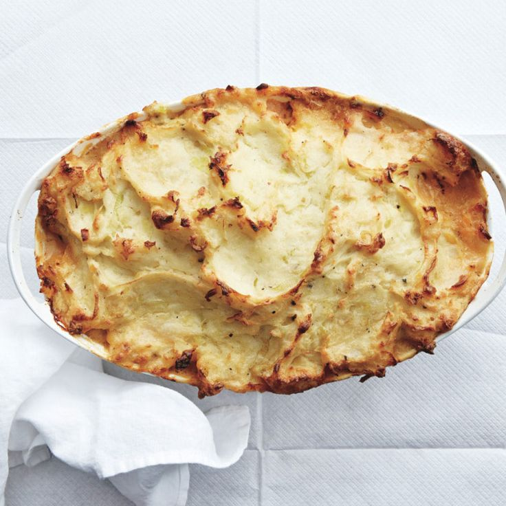 Fish Pie- Like a fish shepherd's pie; the zucchini helps thicken the filling, but disappears in the sauce.