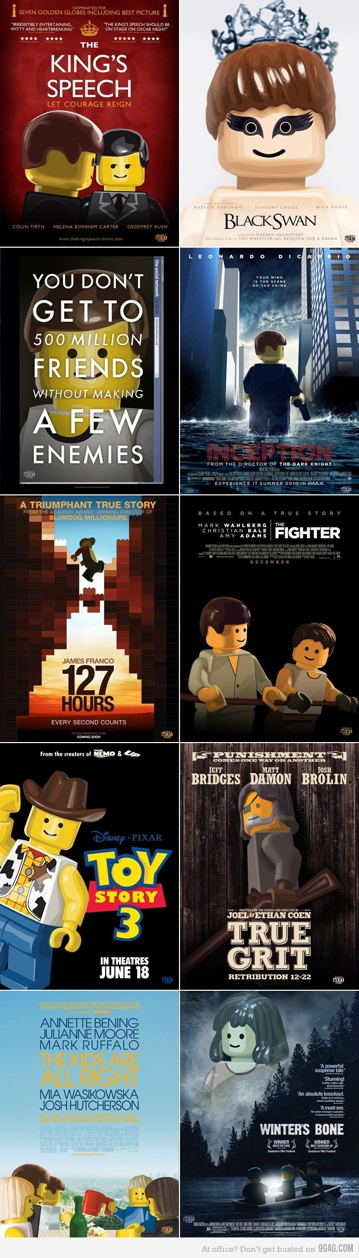 LEGO Style Movie Posters for the Best Picture OscarNominees by NEXTMOVIE