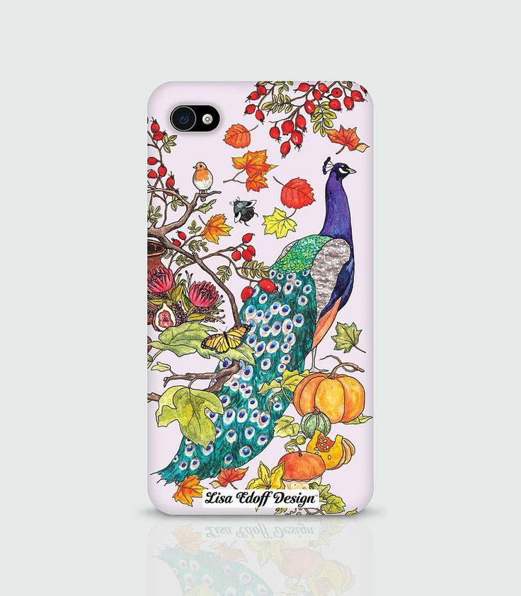 peacock phone case for iphone by lisa edoff design | notonthehighstreet.com
