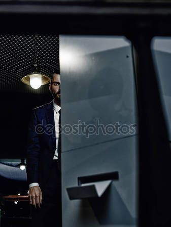 Classy handsome man in a suit — Stock Photo © AHOOLY #134268948