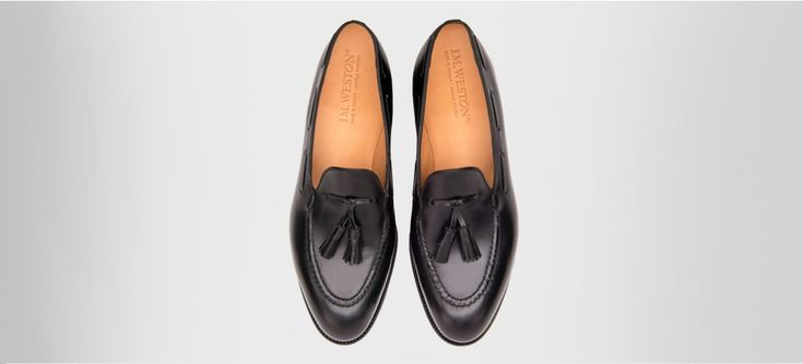Tassel loafers Black boxcalf - Loafers J.M. Weston
