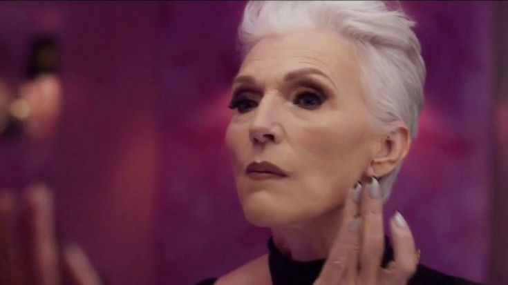Model Maye Musk wonders at what age you just stop caring. The 69 year old applies CoverGirl + Olay Simply Ageless Foundation, designed to tone, hydrate and reduce the look of wrinkles.