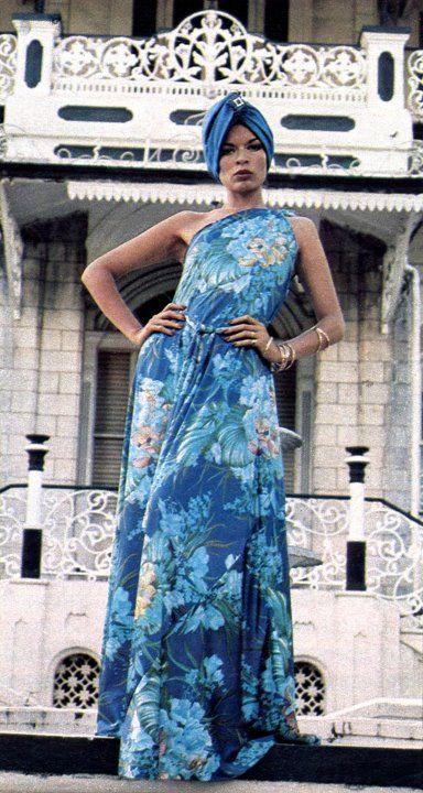 Bianca Jagger // Trending : Turbans // 1969 & 70's Boho Rockstar Street + Stage Style // The Jet Set // Glam Bohemian Mashup // Designer Fashion Ideas + Inspiration