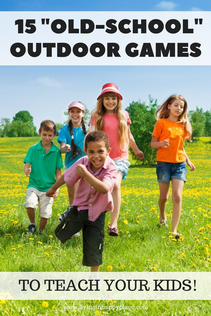 15 outdoor games for kids straight from your own childhood! Bond with your kids this summer by teaching them some yard games you played yourself as a kid! Fun with a group or just your own kiddos, these games are easy, require no toys, and  give you a cha
