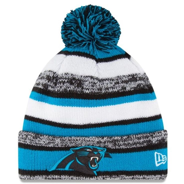 bbc5eb84d9e ... coupon code for mens carolina panthers new era on field sideline sport  cuffed knit hat 2b577