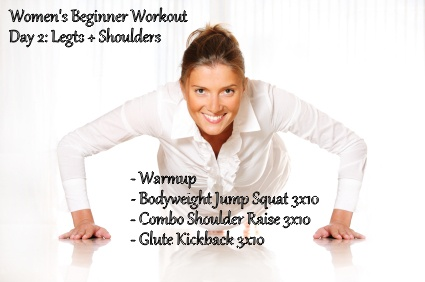 Day 2 of our Women's Beginner Workout Plan! Give it a shot!!