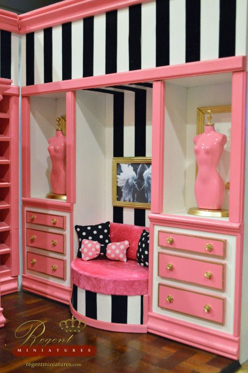 "regentminiatures: "" Shh! Victoria's Secret based Store by Ken by Regent Miniatures Via Flickr: Diorama based on Victoria's Secret Store in 1:6 scale by Ken Haseltine of www.regentminiatures.com. 1:3, 1:4 and 1:6 scale furnishings by Ken Haseltine of..."