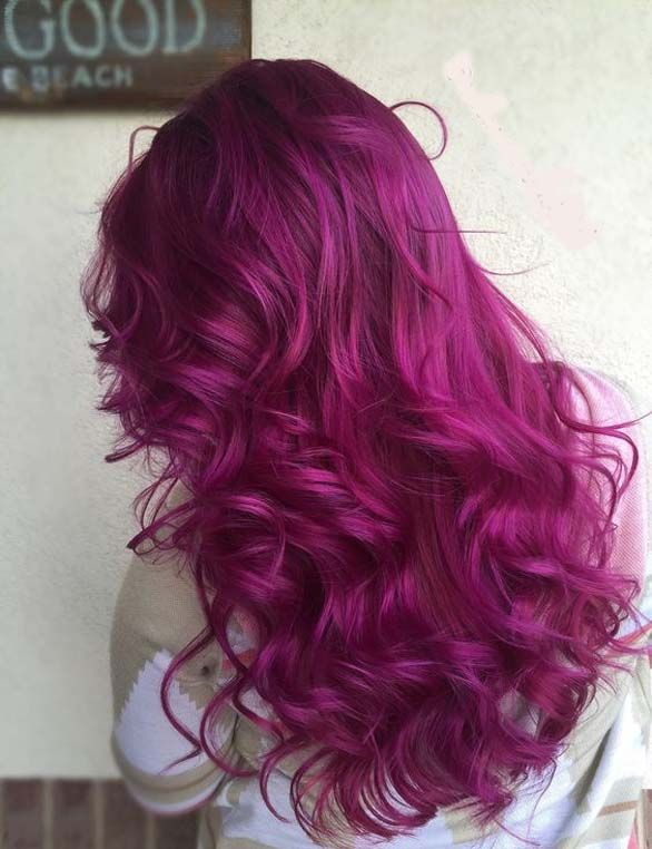 A magenta hair color allows you to show everyone how creative and bold you are