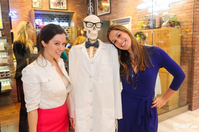 Posing again with Mr. Handsome Skeleton at the Kiehl's grand opening. Thanks for the photos, Daniel Swartz!
