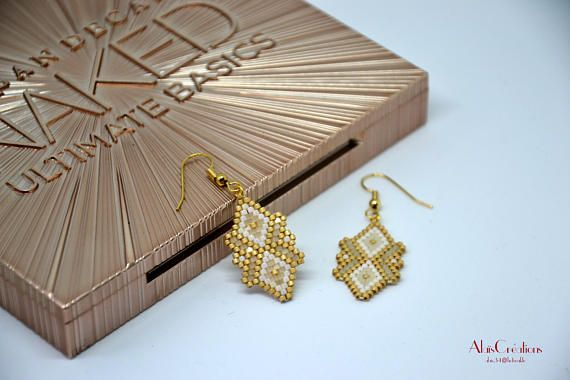 Collection Nude _ earrings small Miyuki weaving