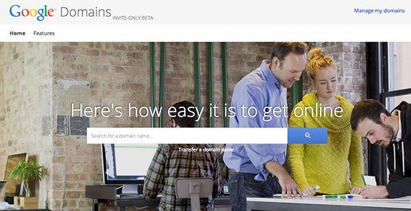 Google lanzará un servicio de registro de dominios llamado Google Domains