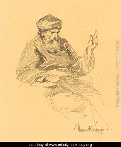 Study Of An Arab Man - Mihaly Munkacsy - www.mihalymunkacsy.org