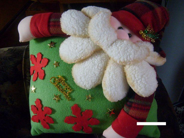 Manualidades Luna Clara: almohadones navideños