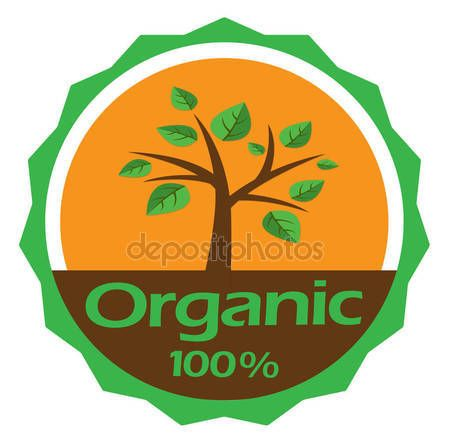 Vector 100% organic label, nature, natural products label icon — Stock Vector © NiMaGraphics #147213173