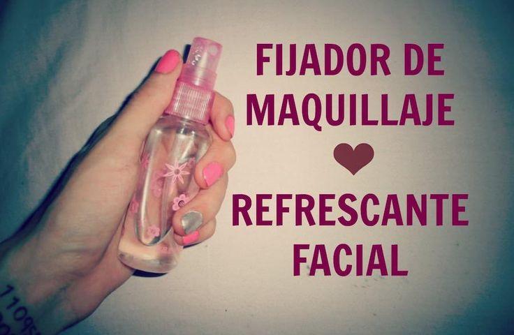 Fijador de maquillaje casero y agua de rosas
