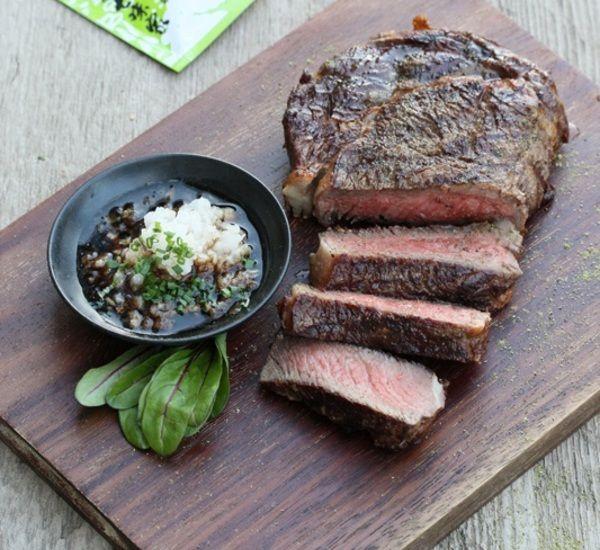 Wagyu Steak With Sansho Daikon Ponzu