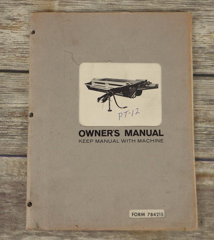 1968 Hesston Windrower Conditioner PT 12 Owners Manual Book Farm Implement Pull #Hesston