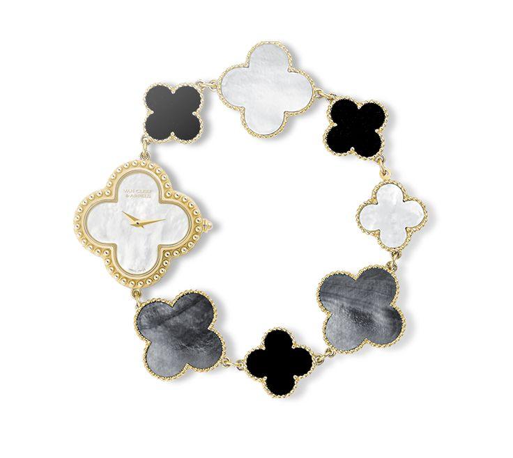 Van Cleef & Arpels Vintage Alhambra represente um trevo de quatro folhas.