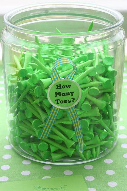 Could we find these (or make them) in purple and green?   Party Wishes: Mini Golf Party
