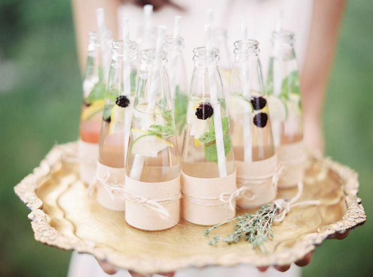 wedding drinks | Cozy and Intimate Rustic Wedding | Photography : yuriyatel.com | read more: fabmood.com