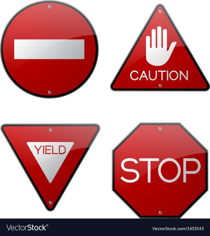 Stop Caution Yield Do Not Enter Signs Royalty Free Vector Sponsored Yield Enter Stop Caution Vector Free Do Not Enter Sign Vector Background Pattern