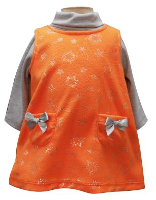 Vestido sin mangas con bolsas y multiprenda manga larga cuello alto. Tallas 3, 6, 12 y 18 meses.