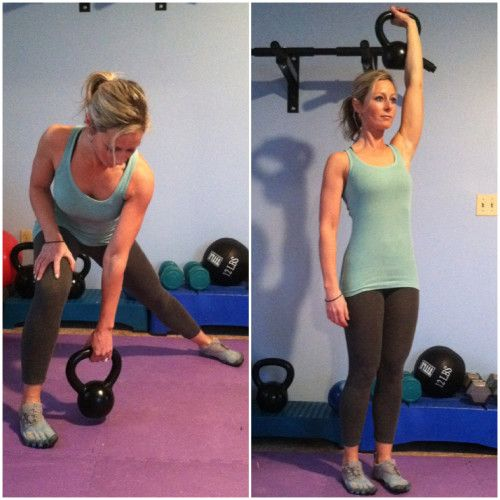 BUILD YOUR BEST BODY EVER WITH KETTLEBELLS  Side Lunge with Press – 10 ea side ;  Pushup and Row – 10 ea side ;  Swings – 30 ;  Alternate leg dead lift – 10 ea side ;  Sumo Squat and Upright Row – 15 ;  Single Arm Swings – 30 ;  Half get up – 10 ea side ;  Rest for 60 sec  Repeat 2X