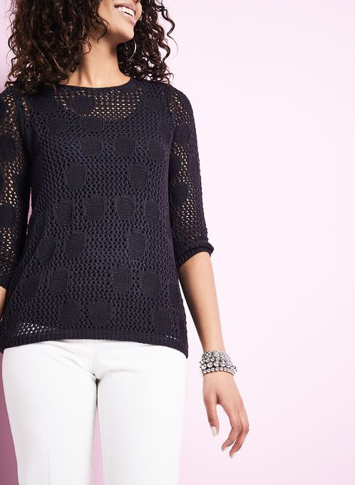 Pointelle Sweater with Matching Tank