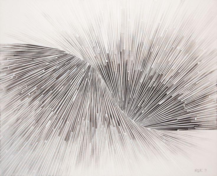 Małgorzata Kosiec, Spectrum III, 2014, akryl, płótno, 120x150 cm.