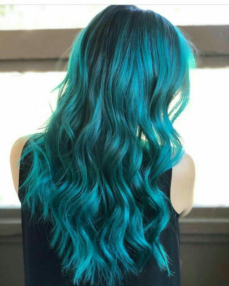 Azul turquesa  Coloración de cabello,