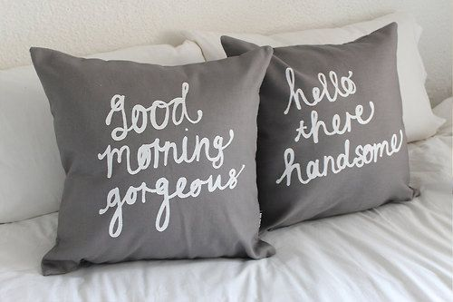 Be Beautiful Angels: Pillows Covers, Being Beauty, Bedrooms Design Grey, Beauty Angel, Cute Pillows, Bedrooms His & Her, 18 Inch, Grey Pillows, Grey 18