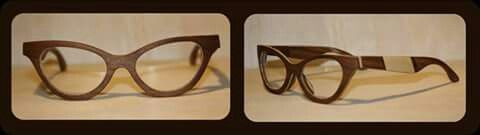 Our Cateye in Walnut and maple wood