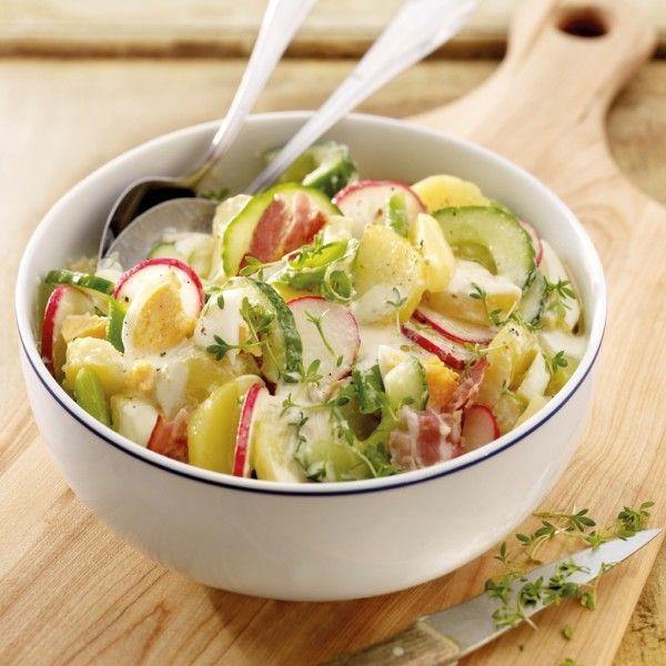 Aardappelsalade met gerookte ham | Gezonde Recepten | Weight Watchers