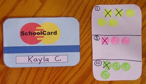 Class Credit Cards Pinner wrote: I have used these credit cards successfully in 2nd through 6th grades. It is a very motivating reward system which gives students real life math practice. The cards are only good for the owner, so stealing is discouraged.