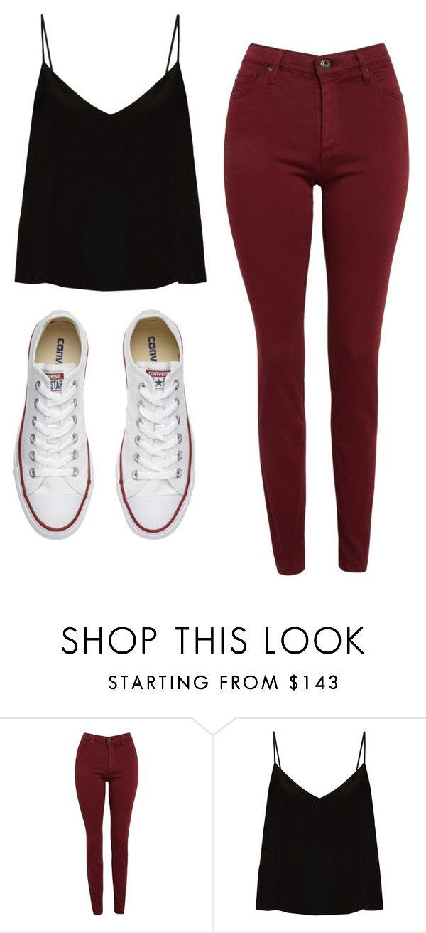"""Untitled #456"" by cuteskyiscute on Polyvore featuring AG Adriano Goldschmied, Raey and Converse"