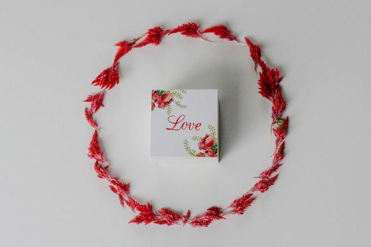 """Свадебные шкатулки для колец ◈ Авторский Киоск Свадебная шкатулка для колец """"Love Story.Red""""   Красивое сочетание белого и красного! Авторский Киоск"""