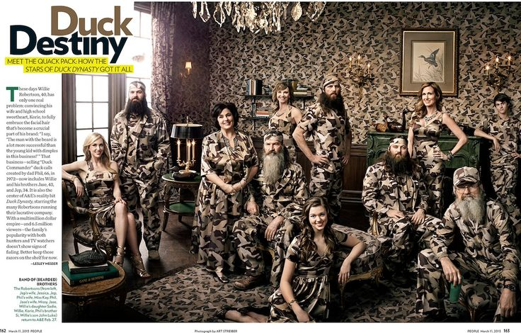 "duck dynasty family | Duck Dynasty"" family portrait by Art Streiber « Stockland ..."