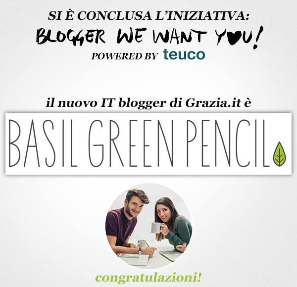 And the winner is... @basil green pencil #blogger we want you #contest @Grazia.it