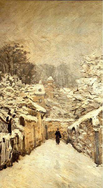 La neige à Louveciennes (Alfred Sisley, 1878, Musée d'Orsay, Paris)