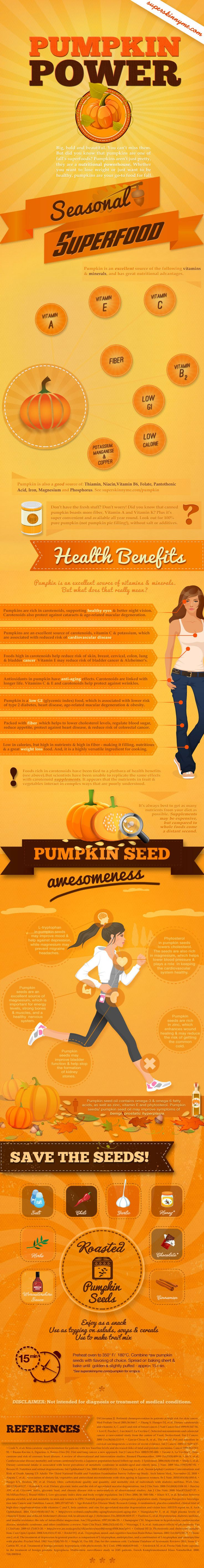 The Health Benefits of Pumpkin Seeds (and if you've never tried them, they're delicious either for snacking or for adding to salads, veggies, and all sorts of other foods)