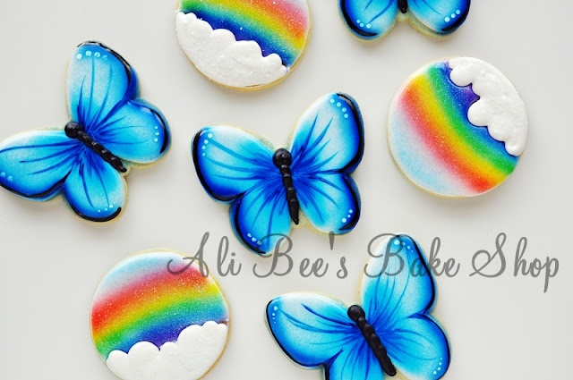 Blue Butterflies and Rainbow Skies  Video Tutorial