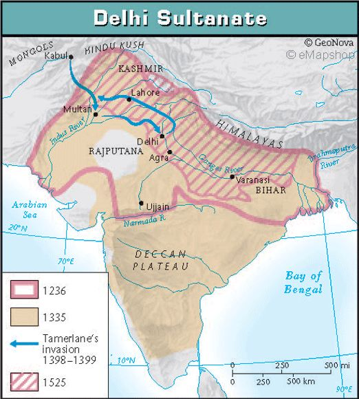 in century south asia was transformed by islamic armies