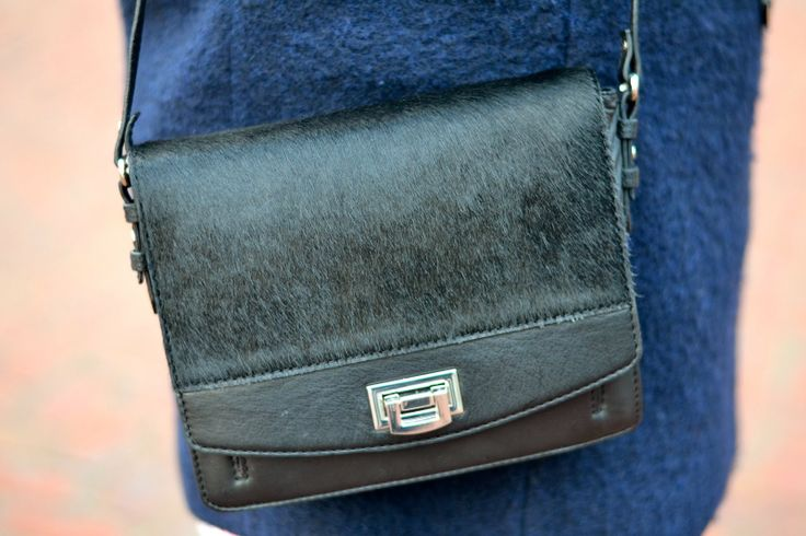 My favourite black hairy leather bag at the moment, by KIOMI