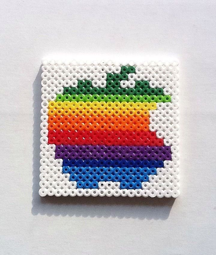 Old-school Apple symbol perler beads!